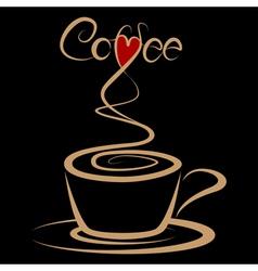 Coffee love vector image vector image