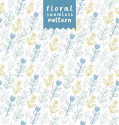 Gentle field flowers pattern vector image