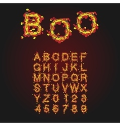 Halloween Style Typeface Uppercase Letters And vector image vector image