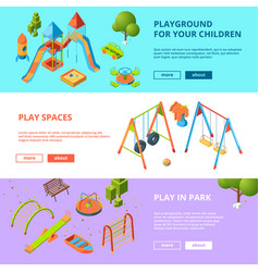 horizontal banners set with isometric vector image vector image