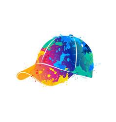 splash of watercolors baseball cap vector image vector image