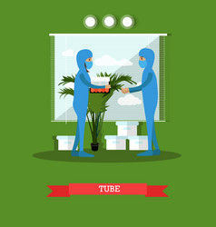 Test tube concept flat style vector