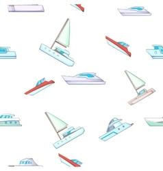 Yacht pattern cartoon style vector image