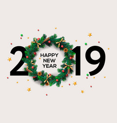 2019 happy new year or christmas background vector