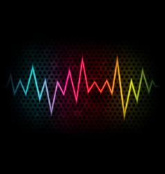 abstract background with colorful waveform vector image