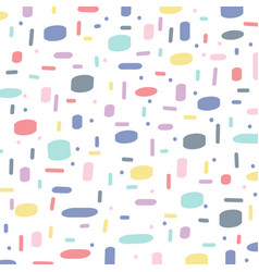 abstract hand drawn brush pattern pastels color vector image