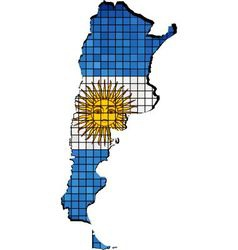 Argentina map with flag inside vector image