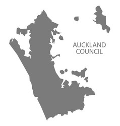 Auckland council new zealand map grey vector