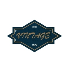 Black vintage label on a white background vector image