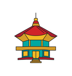 buseoksa temple icon cartoon style vector image