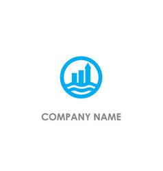 Business arrow graph company logo vector