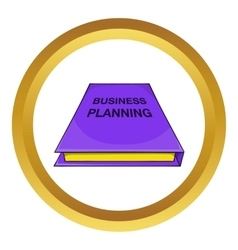 Business plan notebook icon vector