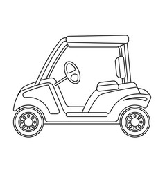 Car for golfgolf club single icon in outline vector