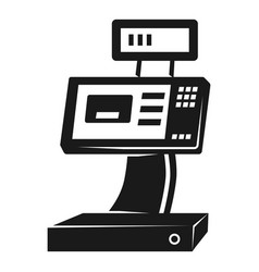 Cash register icon simple style vector