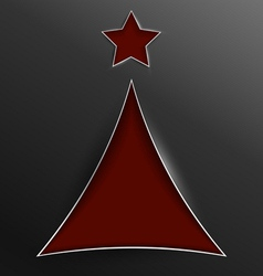 Christmas tree triangle cut of paper vector image