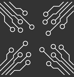 circuit board icon technology scheme symbol flat vector image
