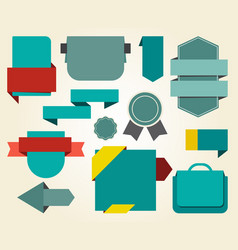 collection of blue stickers vector image