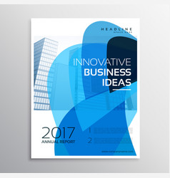 Creative business leaflet or brochure template vector