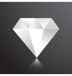 Diamond web flat icon vector