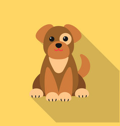 dog icon in flat style isolated on white vector image