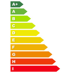 energy rating labels vector image