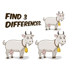 Find differences game goat vector