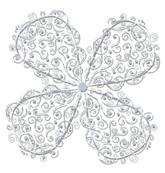 Floral ornament in circle vector image