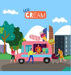 food cart vector image