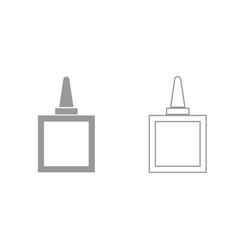 glue grey set icon vector image