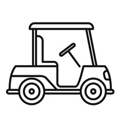 Golf cart bag icon outline style vector
