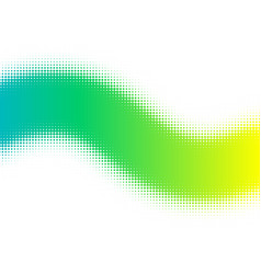 green dotted halftone pattern on white vector image