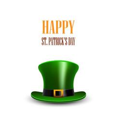 green st patrick day hat stpatrick day greeting vector image