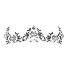 Hand Drawn vintage floral ornament vector