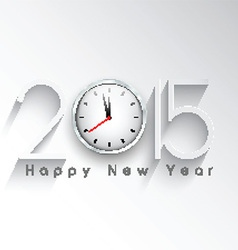 happy new year clock background 1711 vector image