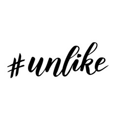 Hashtag unlike brush calligraphy vector