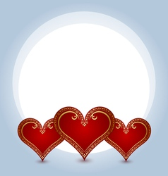 hearts composition vector image