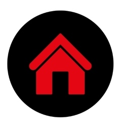 Home flat intensive red and black colors round vector