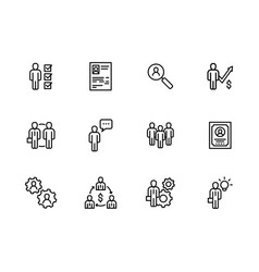 Icon business people office meeting vector