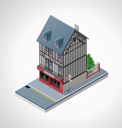 Isometric French cakes vector