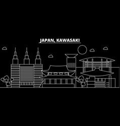 Kawasaki silhouette skyline japan - kawasaki vector