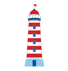 lighthouse on white background vector image