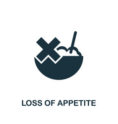 Loss appetite icon simple from coronavirus vector