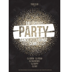 Lounge bar party poster background vector image