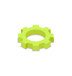 mechanic gear isometric 3d icon vector image