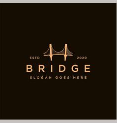 Minimalist bridge logo icon template vector