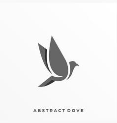 minimalist flying bird design template vector image