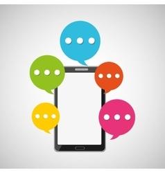 mobile smartphone bubble speech icon vector image