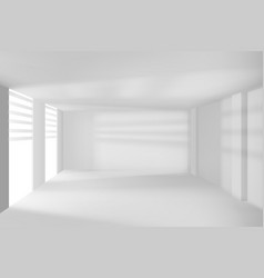 modern room walls and windows empty hi-tech room vector image