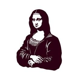 Mona lisa smile renaissance art vector image