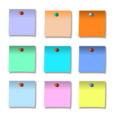 note paper set notes post memo papers vector image
